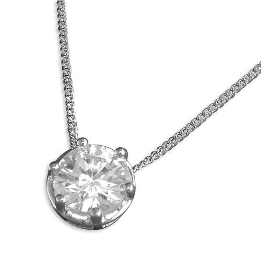 Sterling Silver Cz Claw Pendant