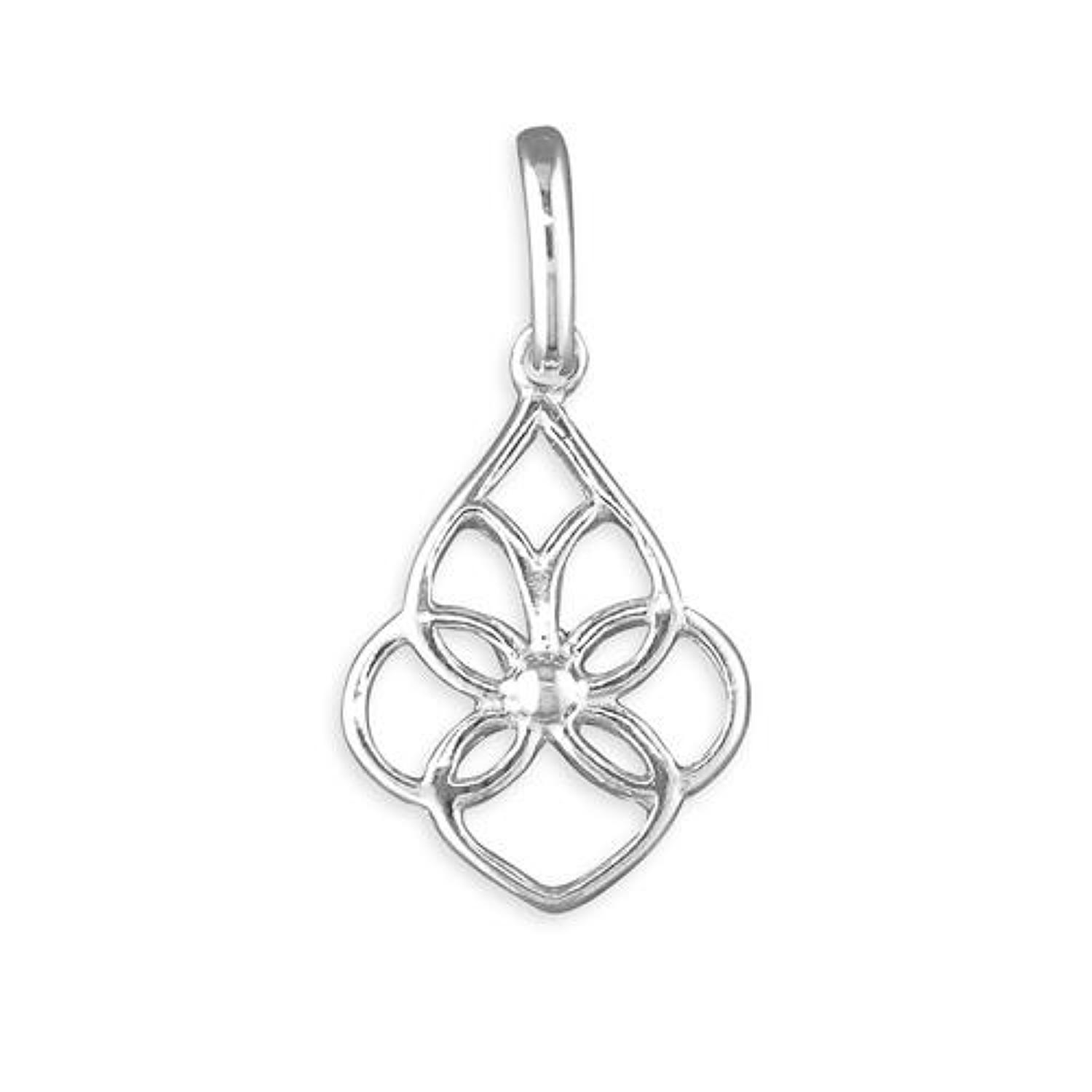 Sterling Silver Fancy Loop Pendant