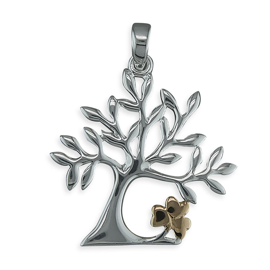 Sterling Silver & Rose Gold Plated Tree Of Life Pendant