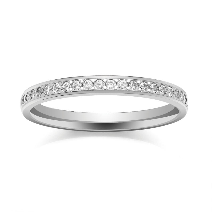 2.2mm Grain Set Diamond Ring