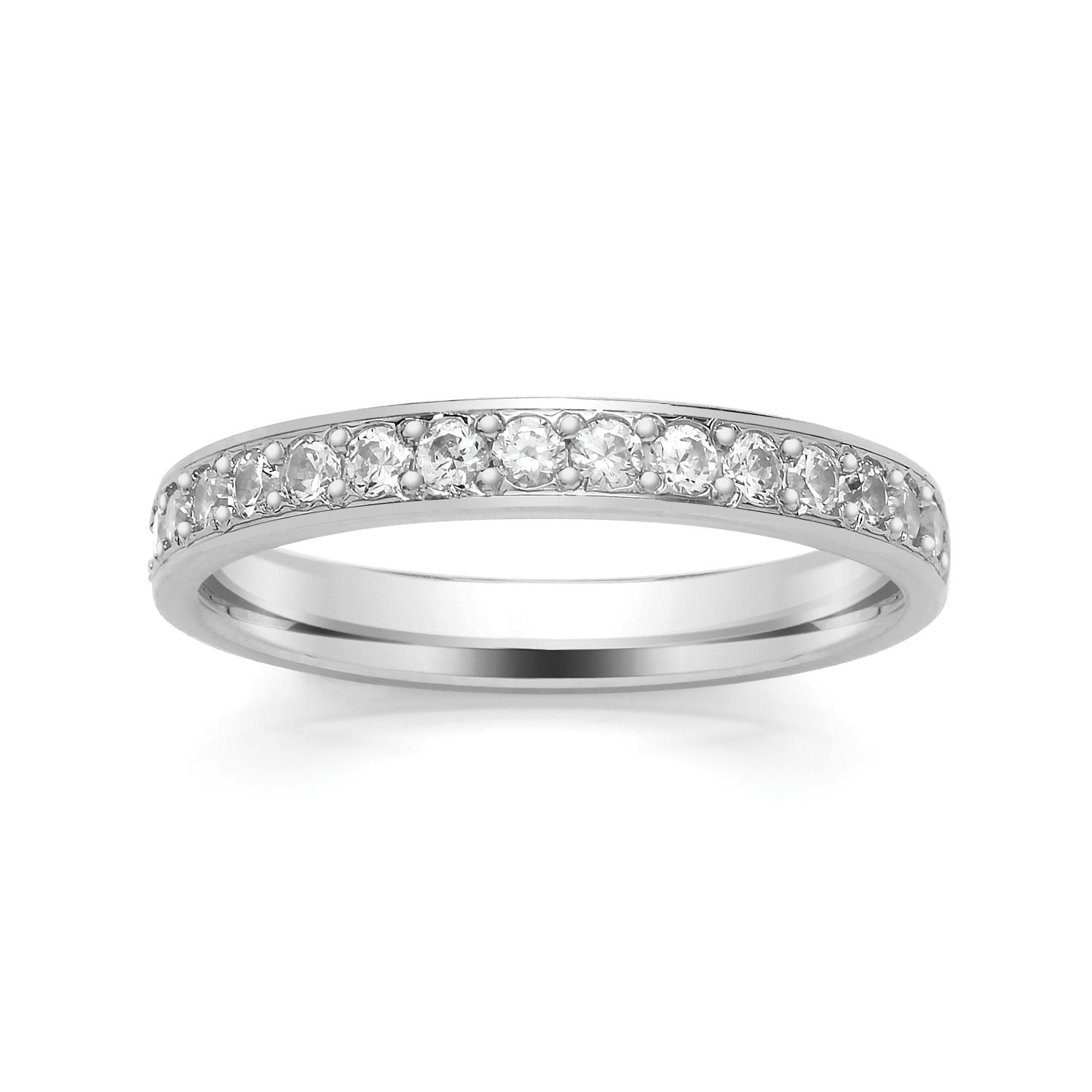 2.9mm Grain Set Diamond Ring