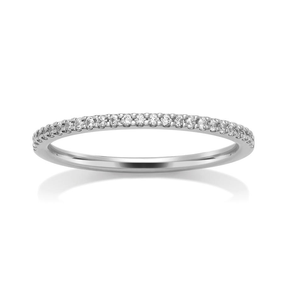 1.3mm Single Row, Claw Set Diamond Ring