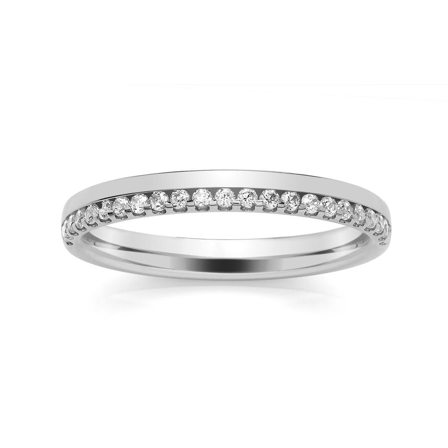 2.5mm  Offset Claw/Channel Set Wedding Ring