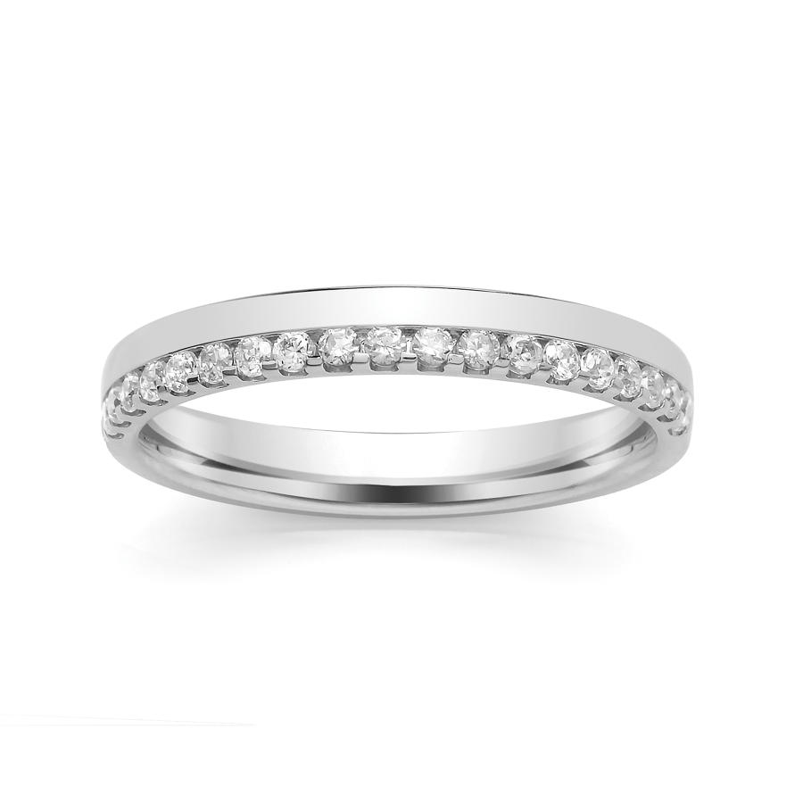 3mm Offset Claw/Channel Set Wedding Ring