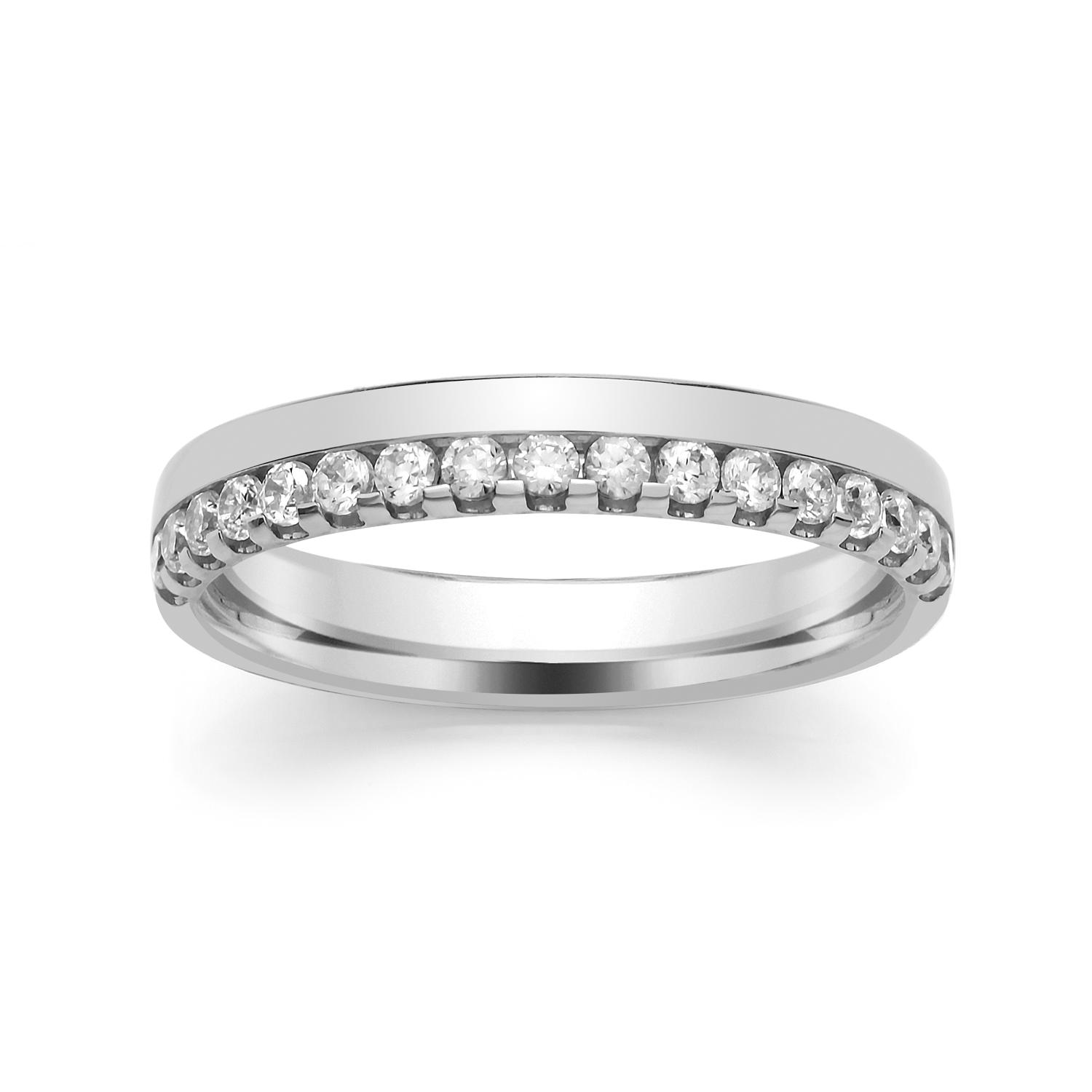 3.5mm Offset Ball Claw Set Diamond Ring