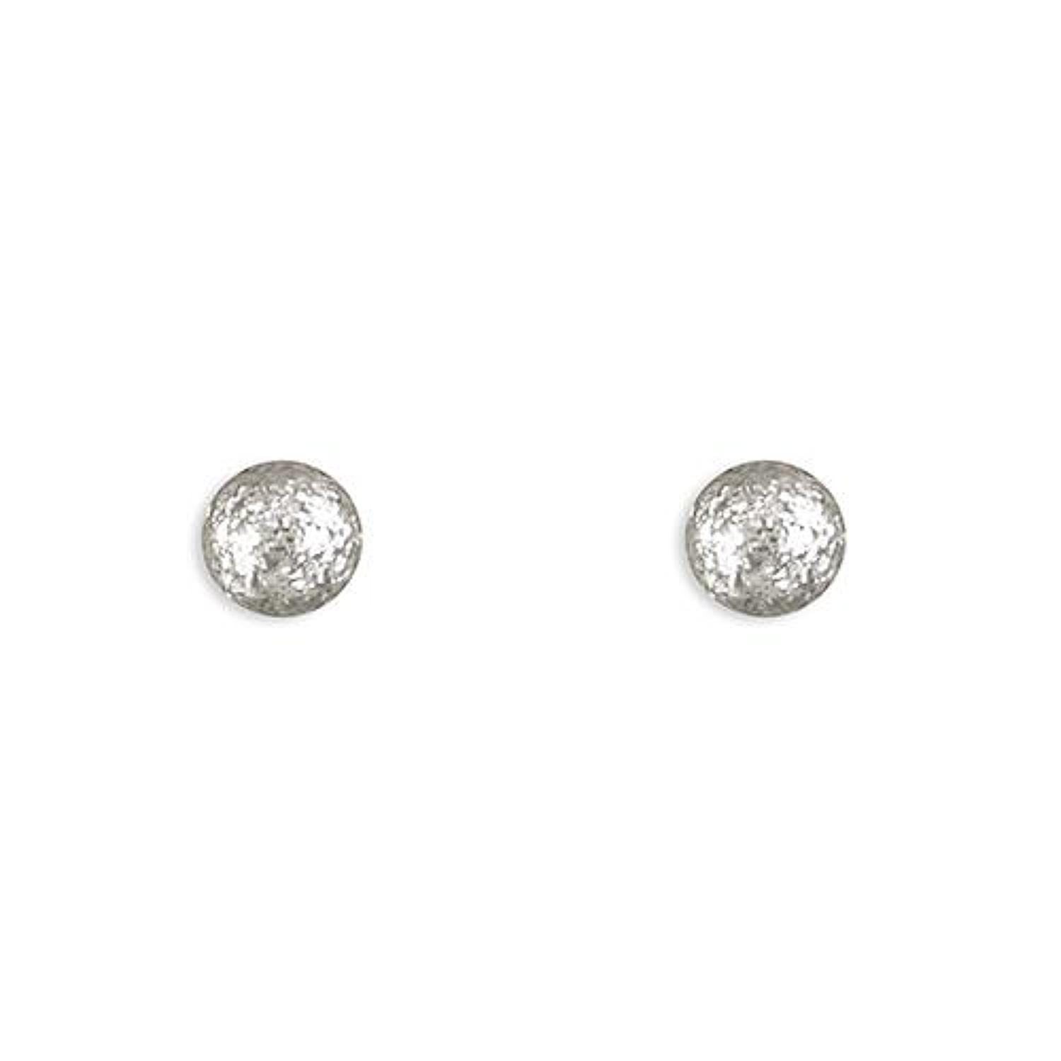 Sterling Silver Dazzle Ball Stud Earrings
