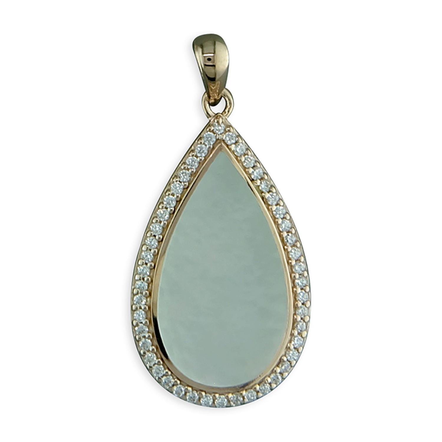 Sterling Silver & Rose Gold Plated Mother Of Pearl Pendant