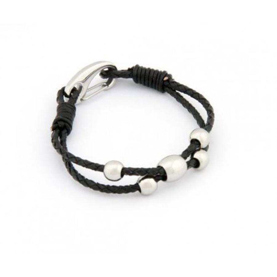 Leather & Stainless Steel Bracelet