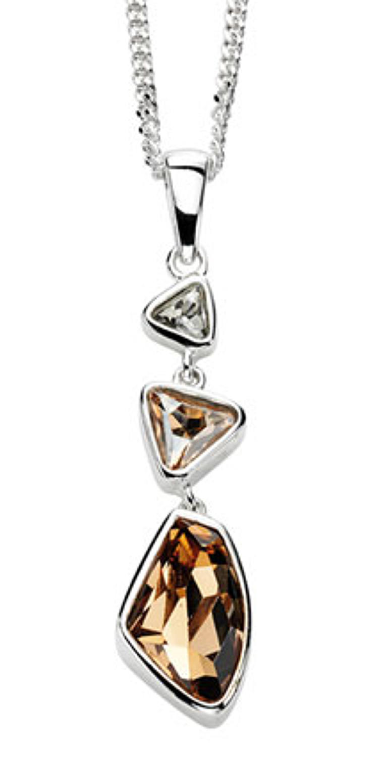 Sterling Silver Abstract Crystal Pendant