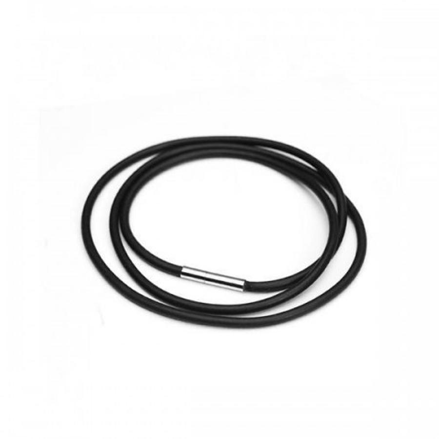 Rubber & Stainless Steel Necklace