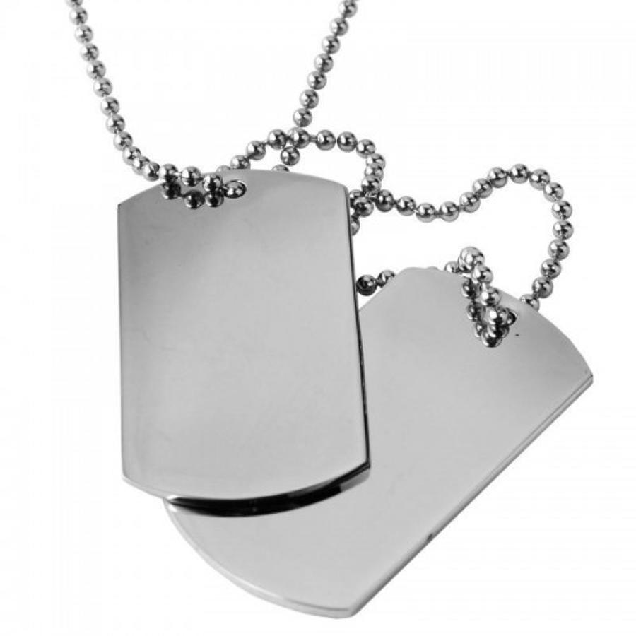 Stainless Steel Dog Tag Pendant & Chain