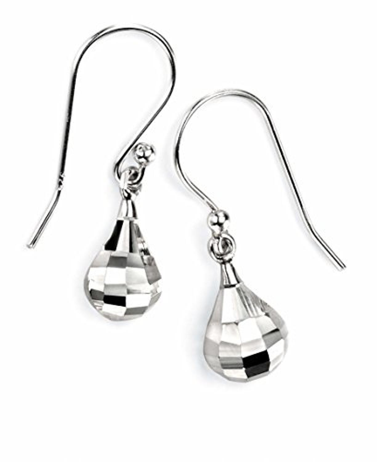 Sterling Silver Facetted Drop Earrings