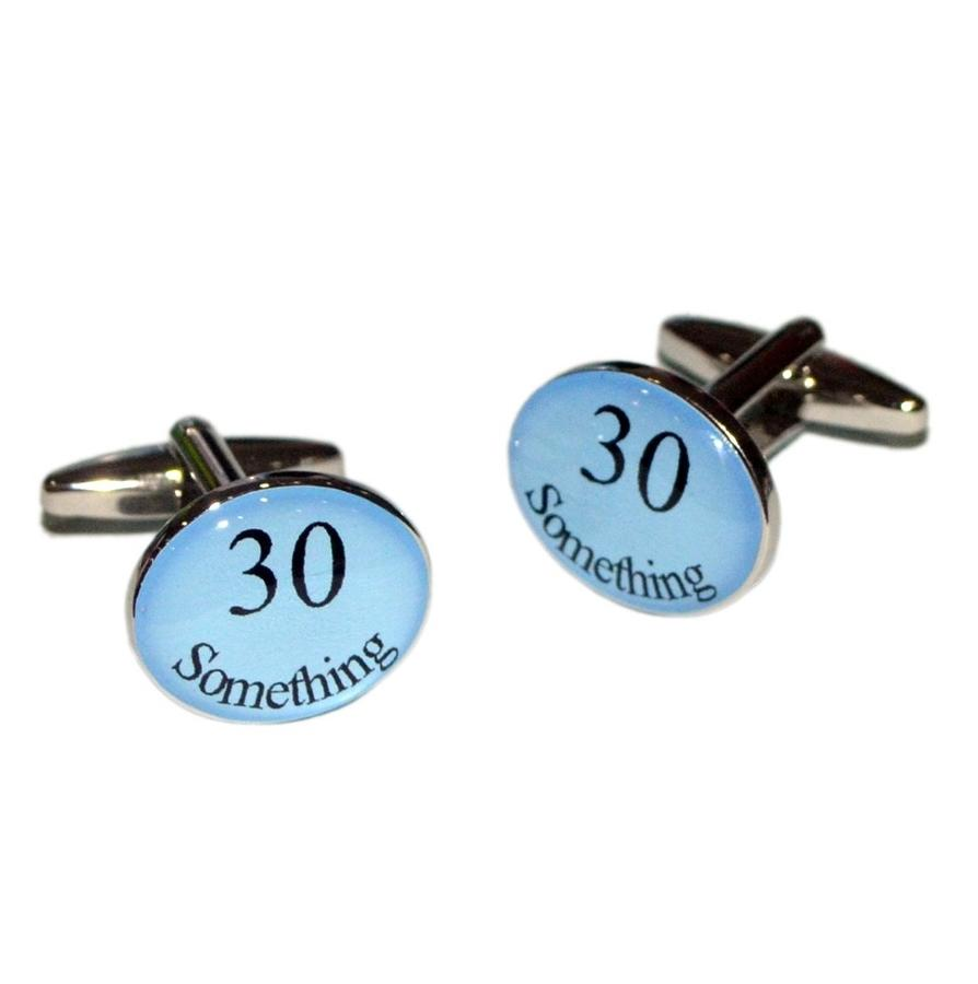 Oval Blue Age Cufflinks