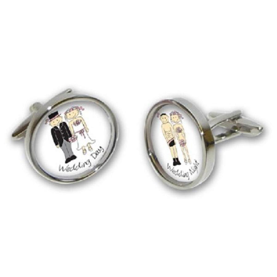 Wedding Day/Night Cufflinks