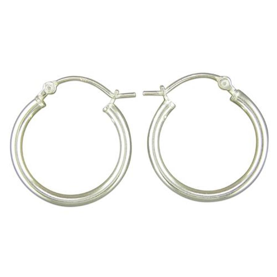 Sterling Silver Small 20mm Plain Hoops