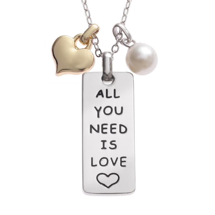 'All You Need Is Love' Sentiments Pendant