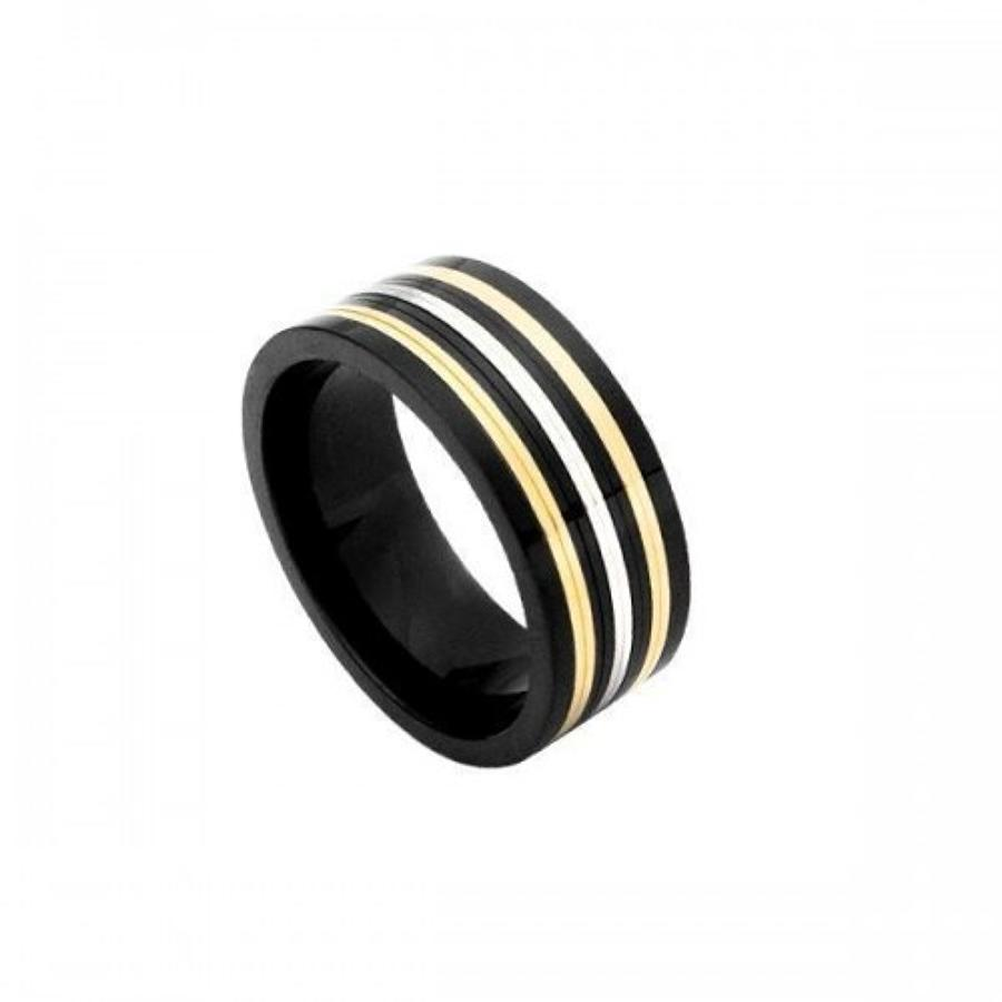 Stainless Steel Tri-Colour Ring