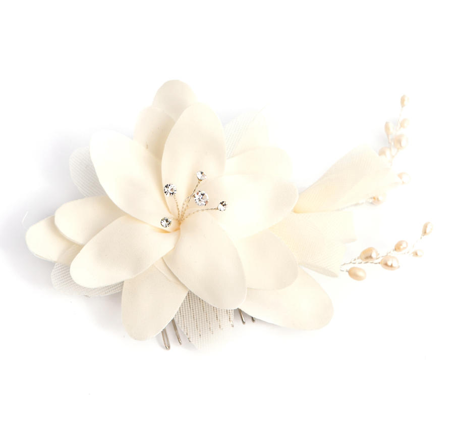 Ivory Flower Comb