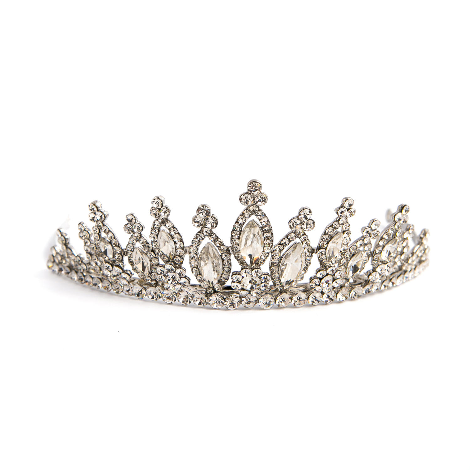 Crystal & Silver Plated Tiara