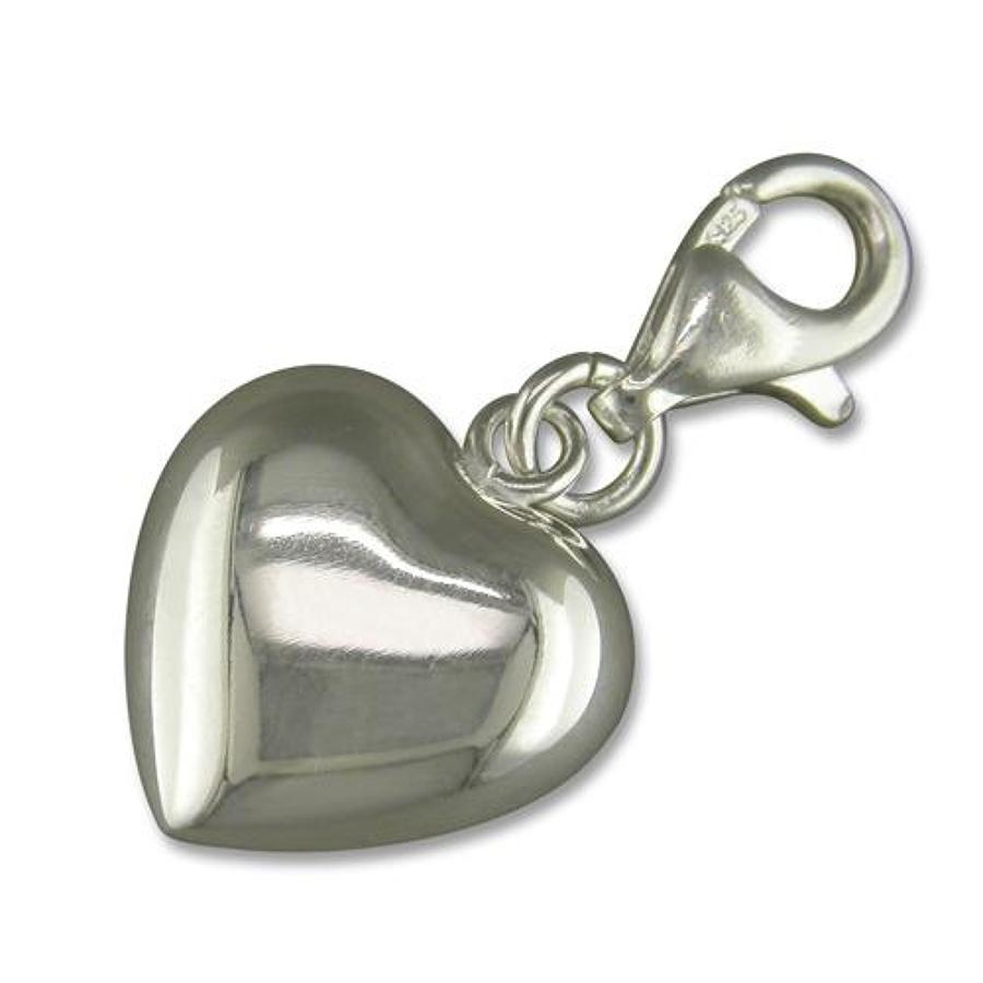 Sterling Silver Plain Heart Charm