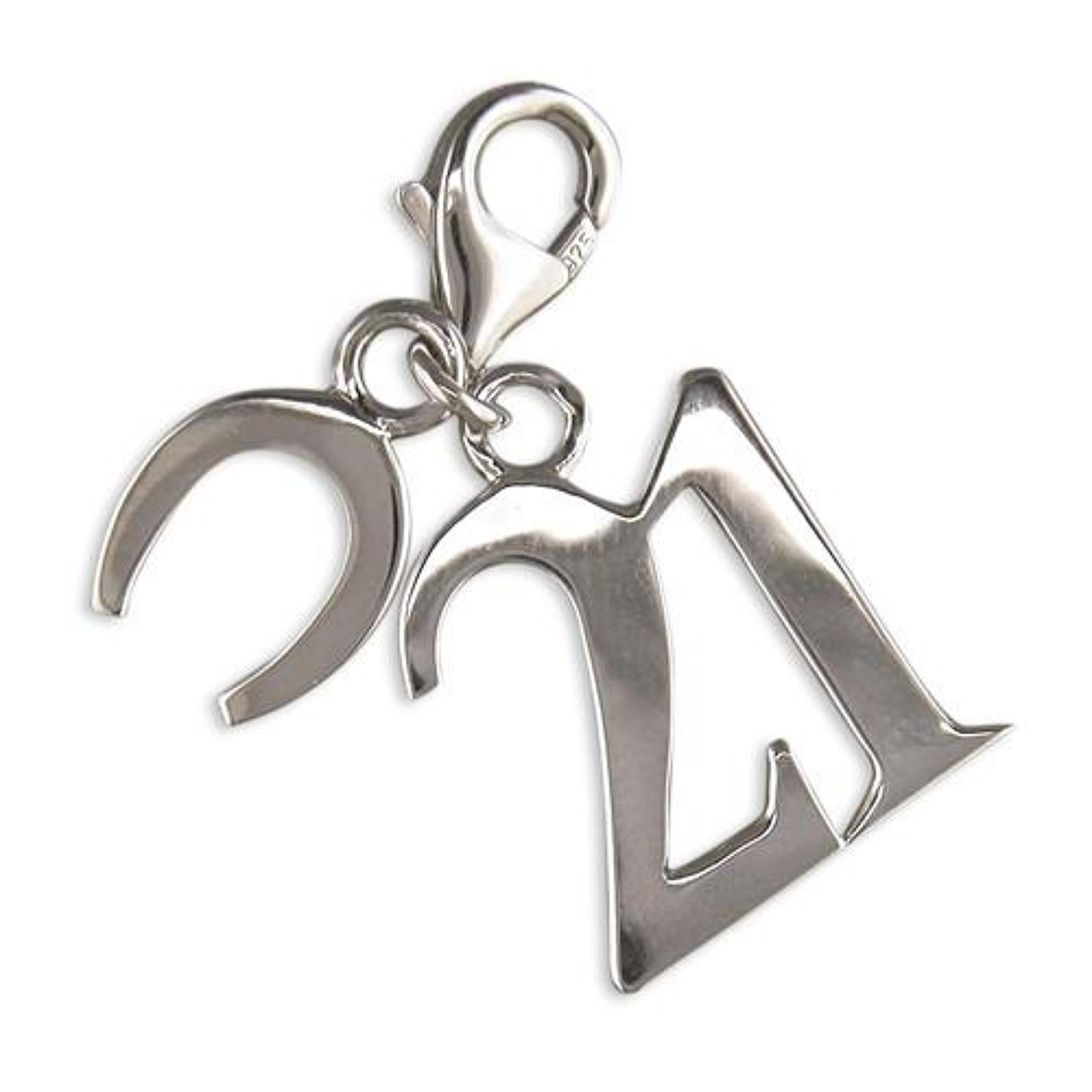 Sterling Silver '21' With Horseshoe Charm