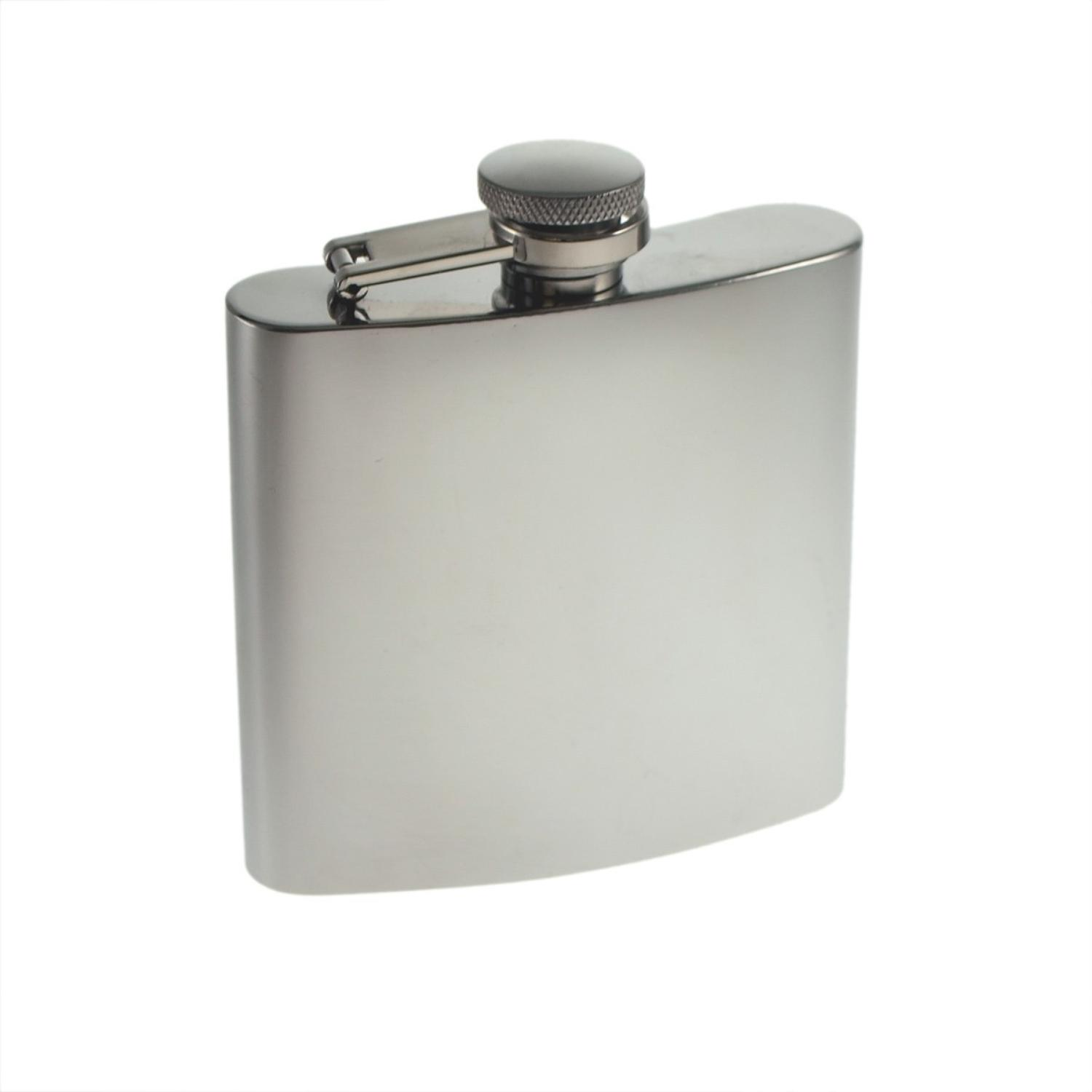 Stainless Steel 6oz Hip Flask