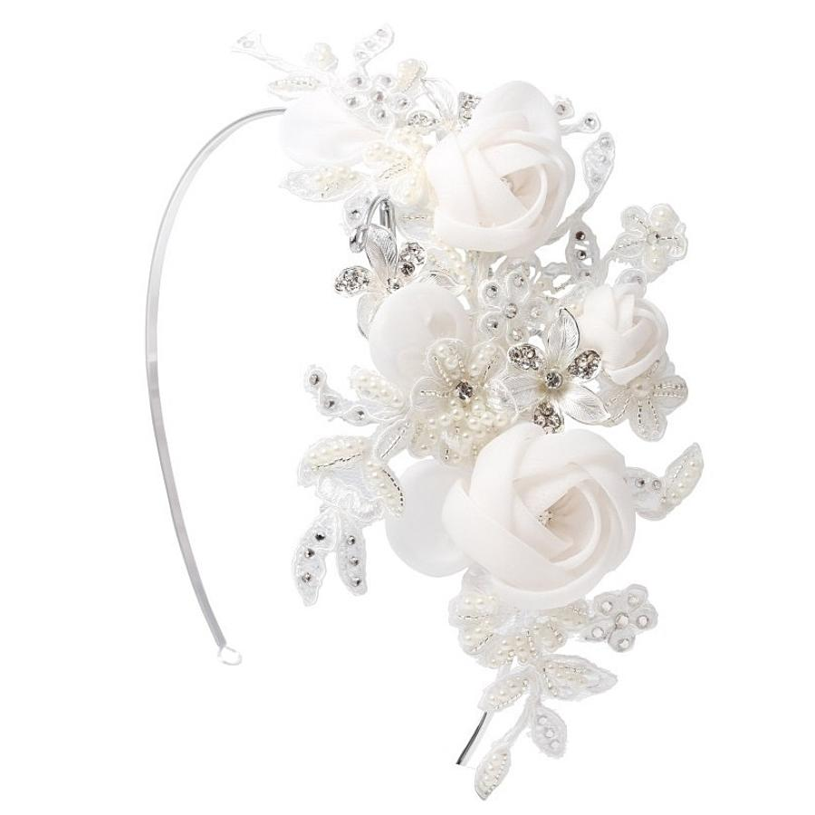 Flower & Crystal Side Hair Band