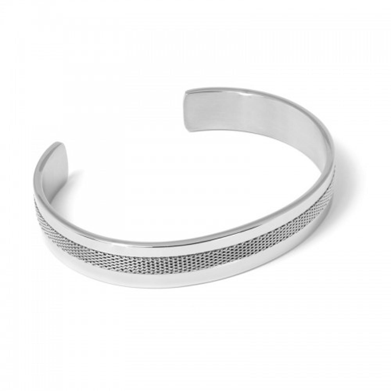 Stainless Steel Mesh Detail Bangle