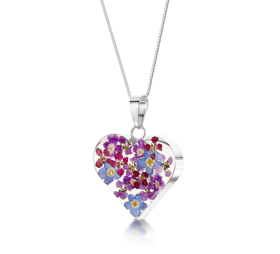 Purple Haze Medium Heart Pendant
