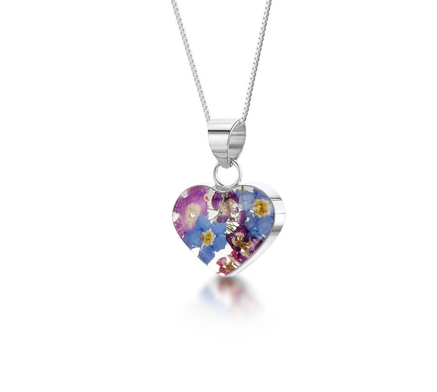 Purple Haze Medium Small Heart Pendant