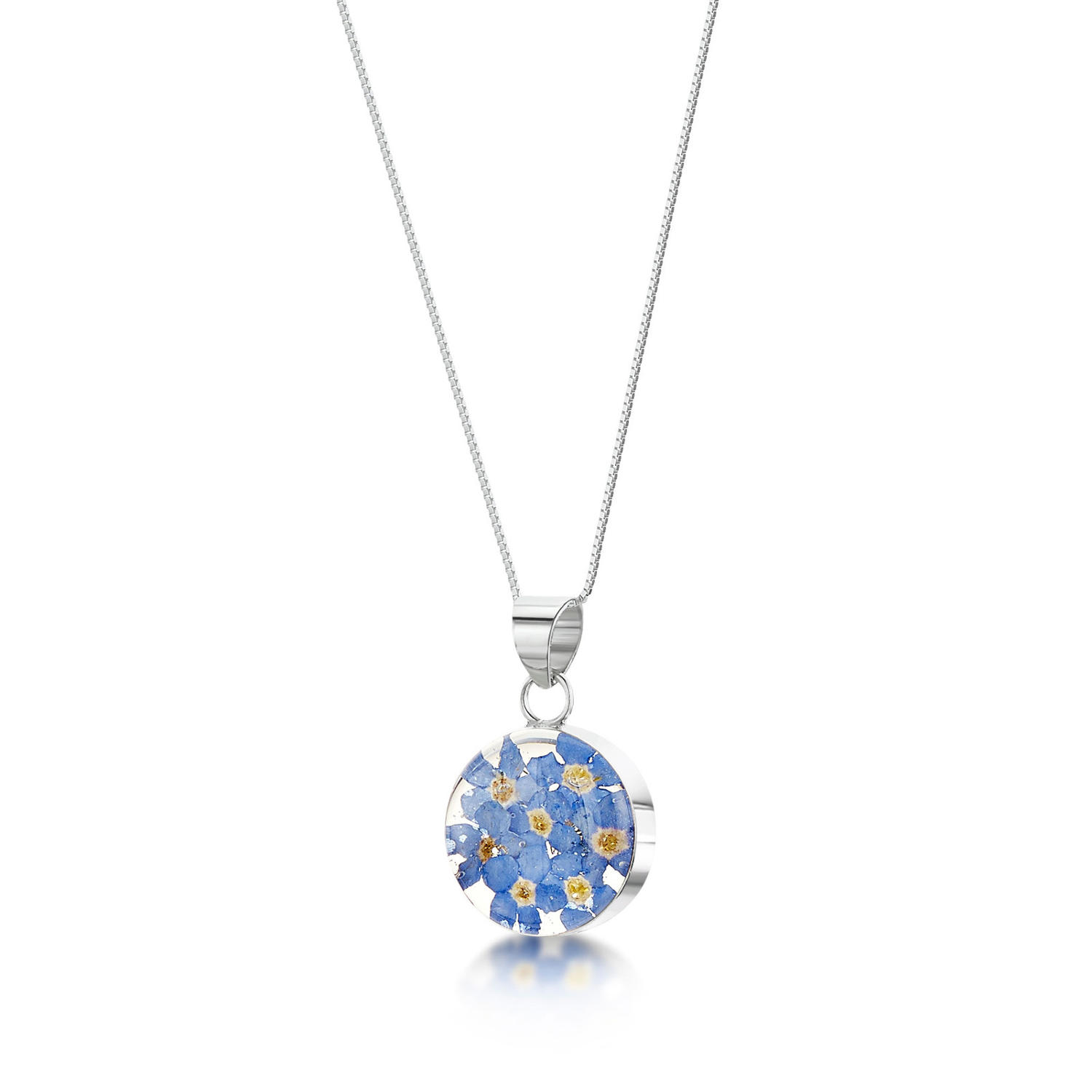Forget-Me-Not Medium Round Pendant