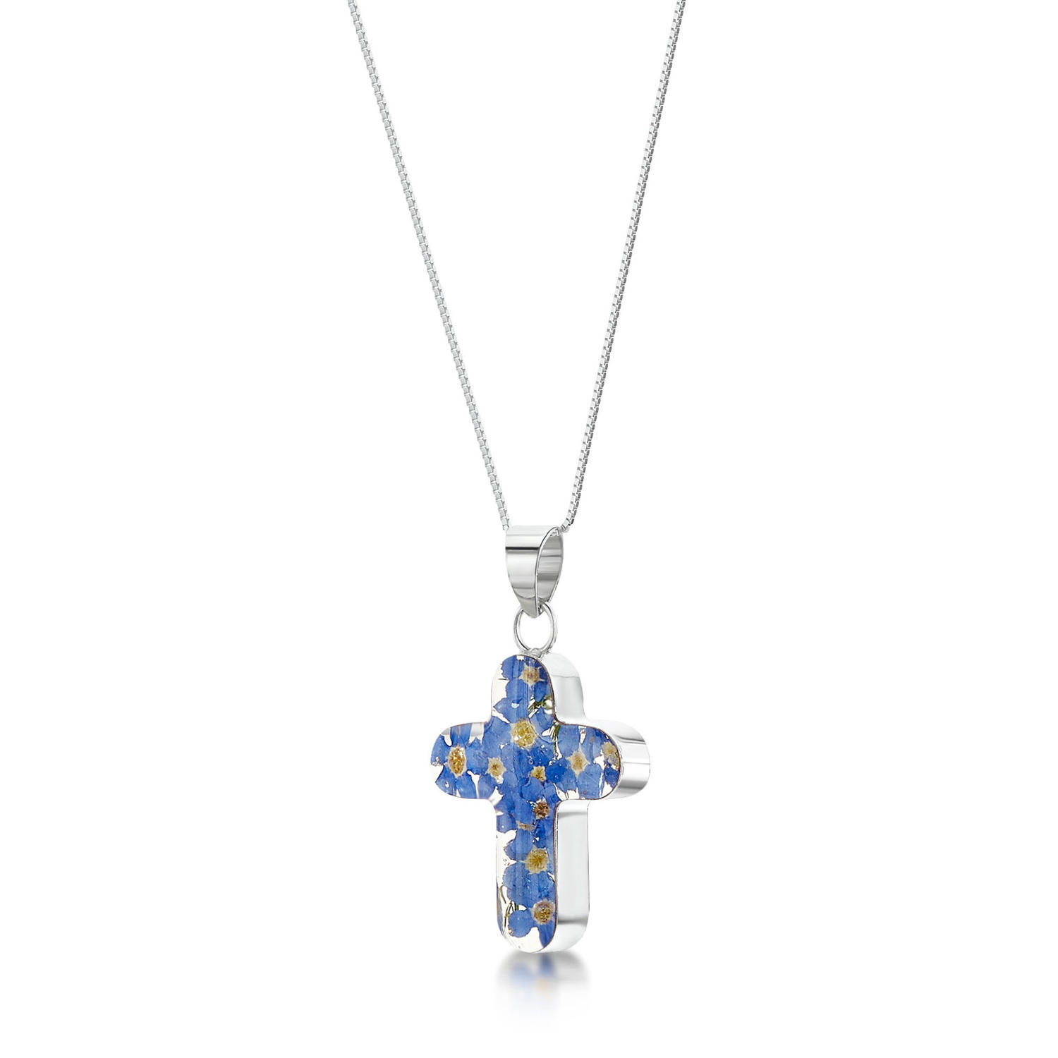Forget-Me-Not Cross Pendant