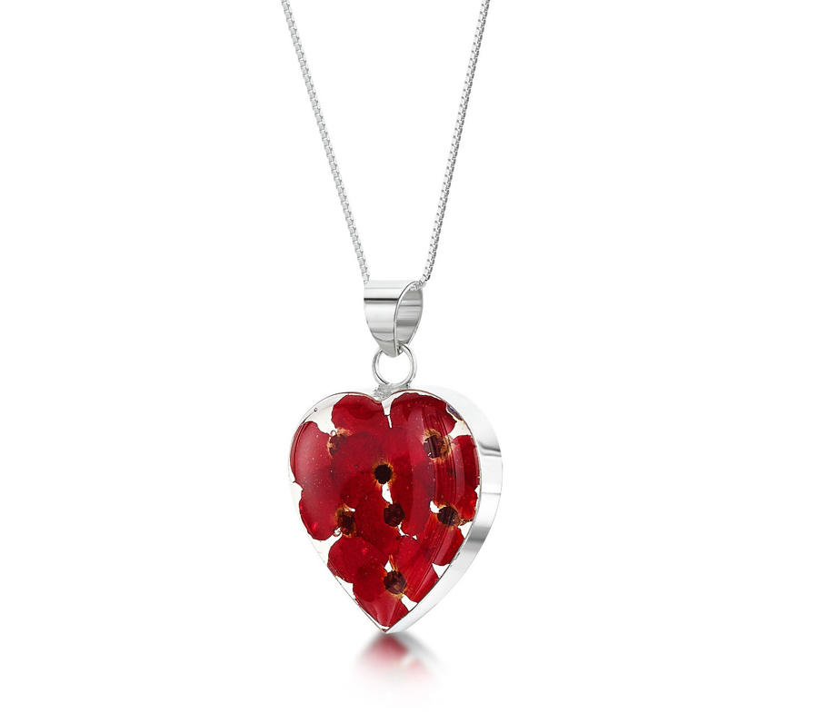 Poppy Medium Heart Pendant