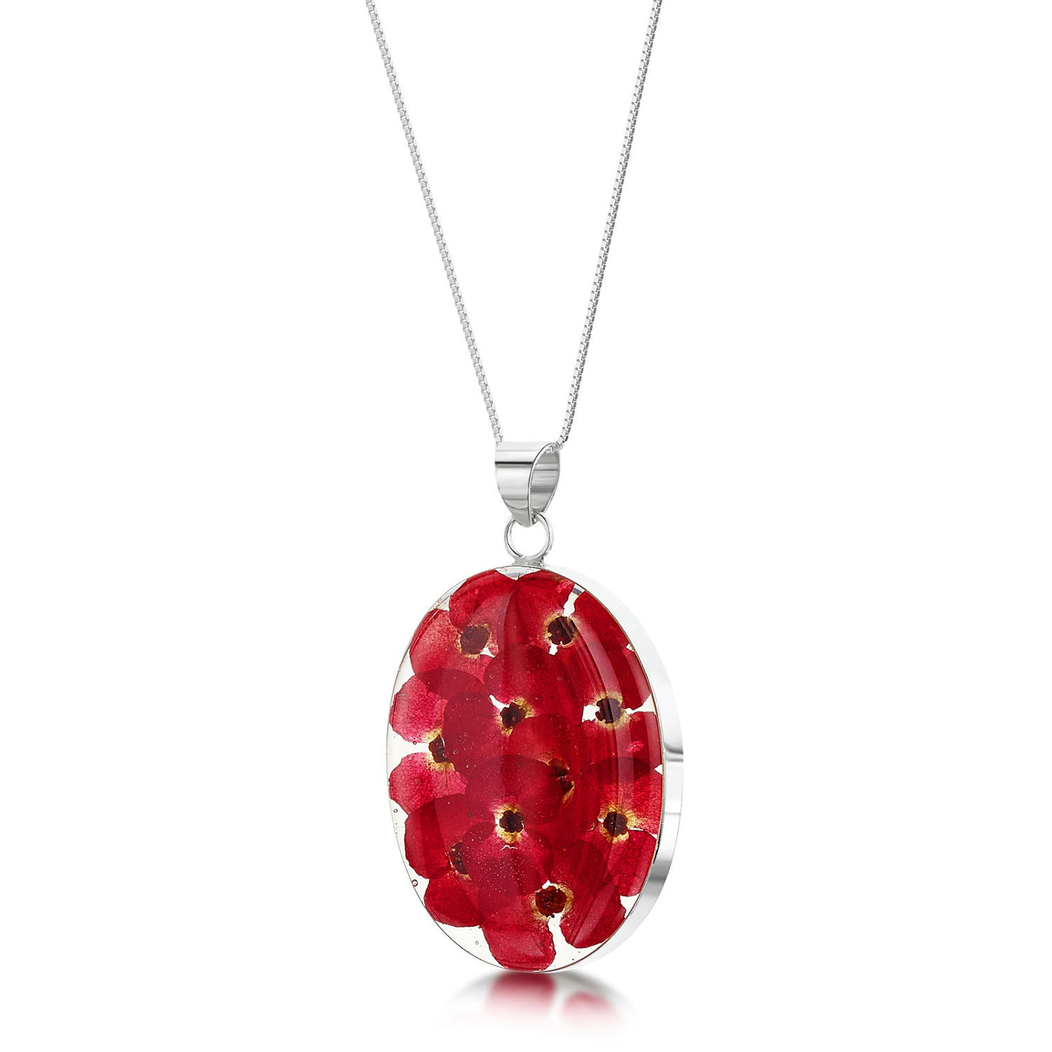 Poppy Large Oval Pendant