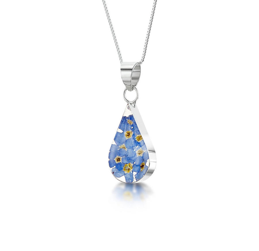 Forget-Me-Not Teardrop Pendant