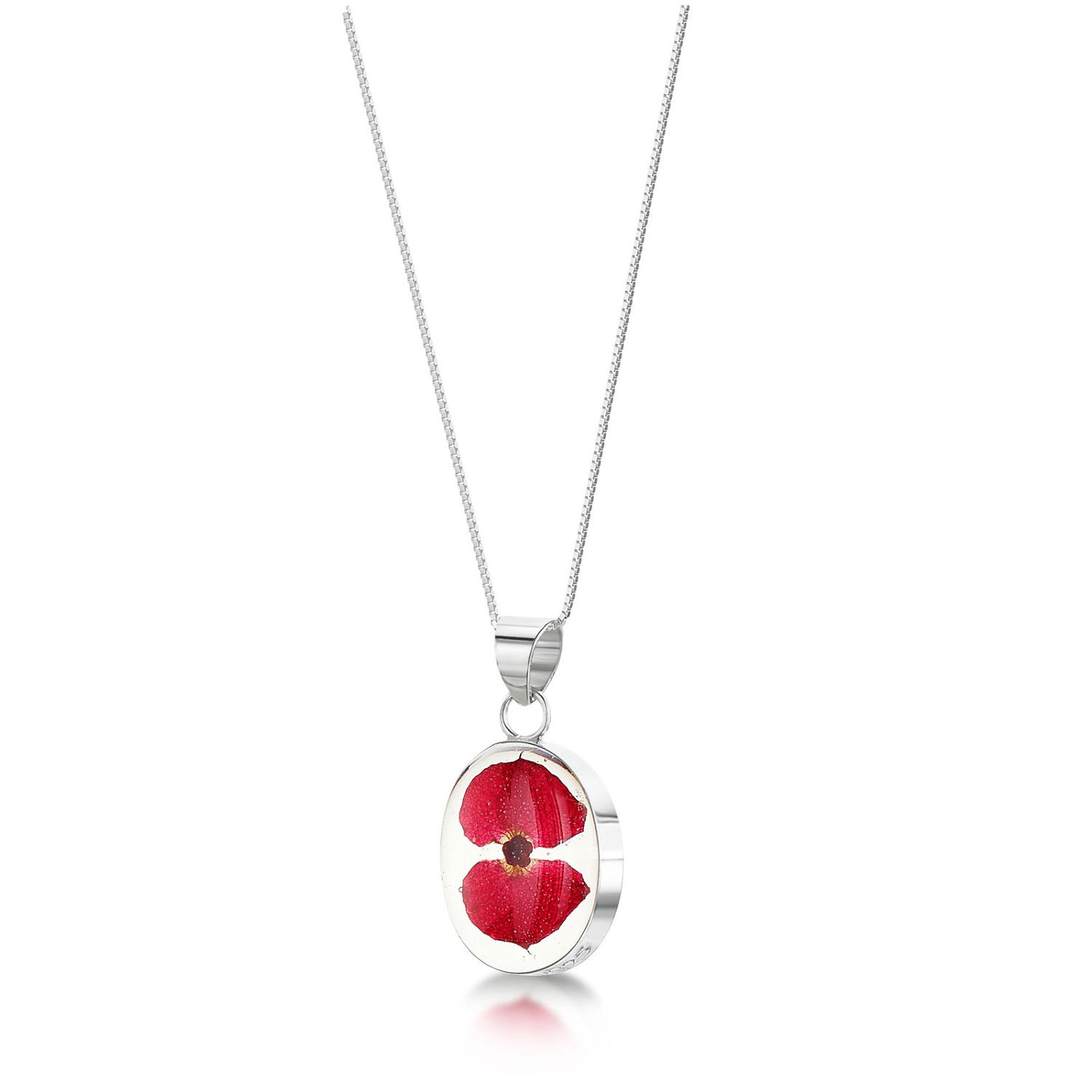 Poppy Oval Pendant