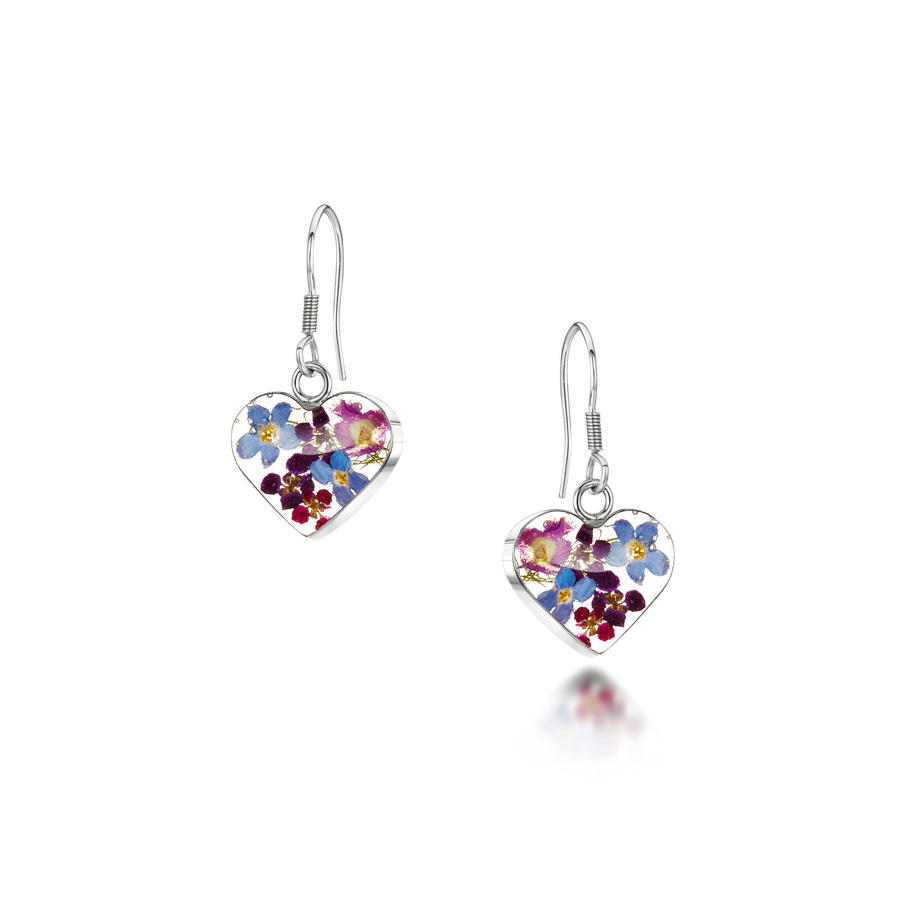 Purple Haze Heart Drop Earrings