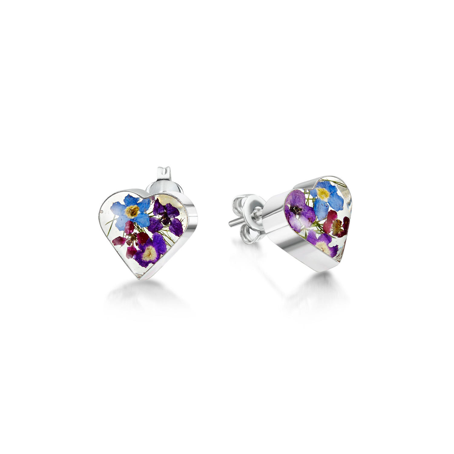 Purple Haze Heart Stud Earrings