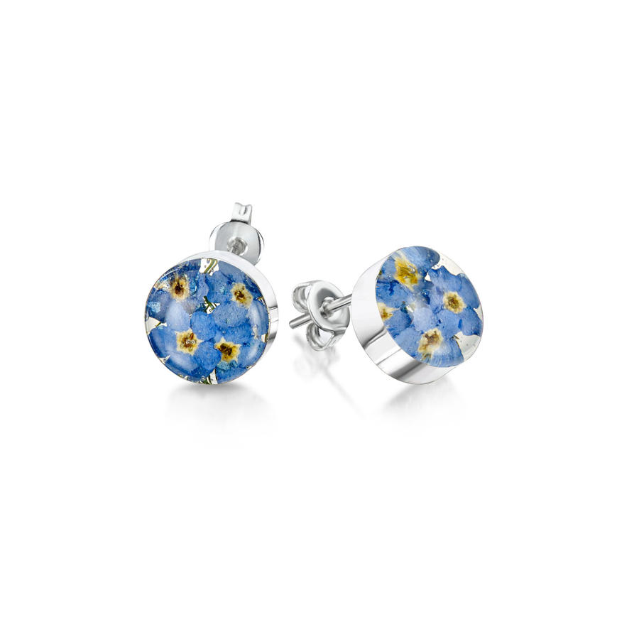 Forget-Me-Not Round Stud Earrings