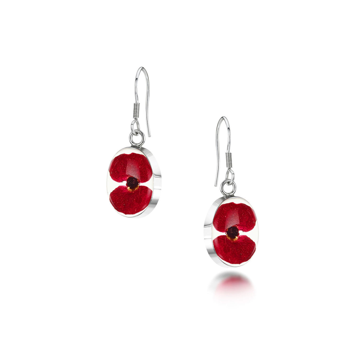 Poppy Oval Drop Earrings
