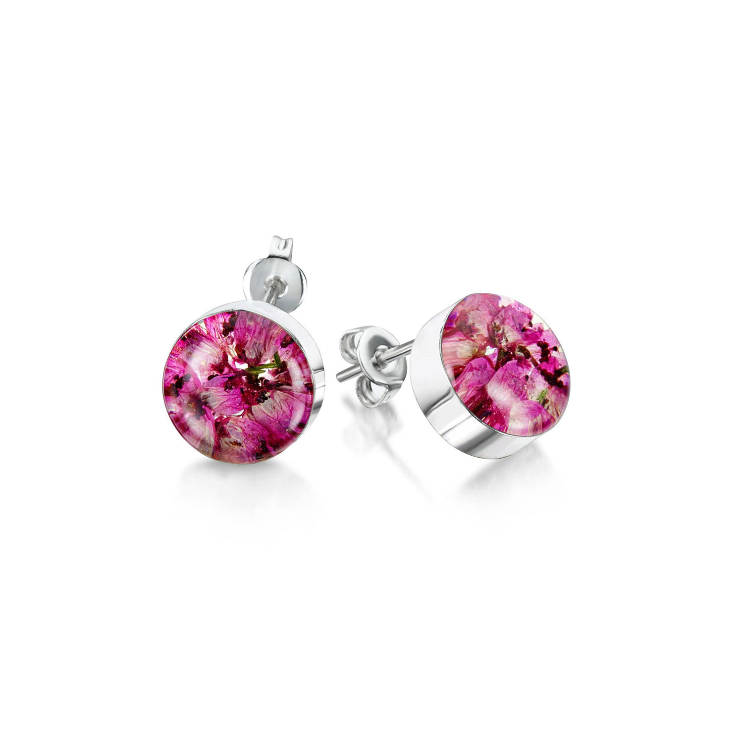 Heather Round Stud Earrings