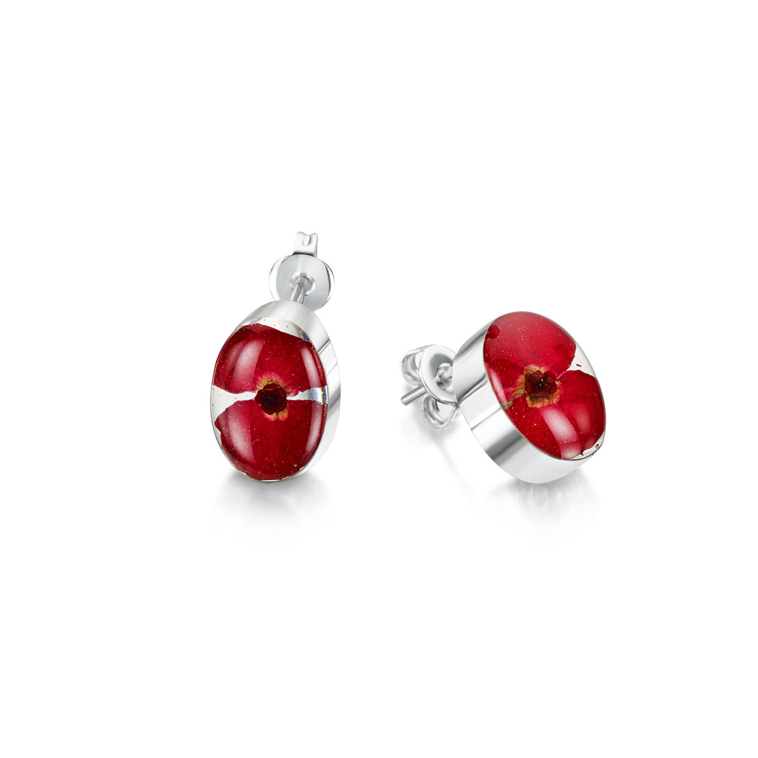 Poppy Oval Stud Earrings