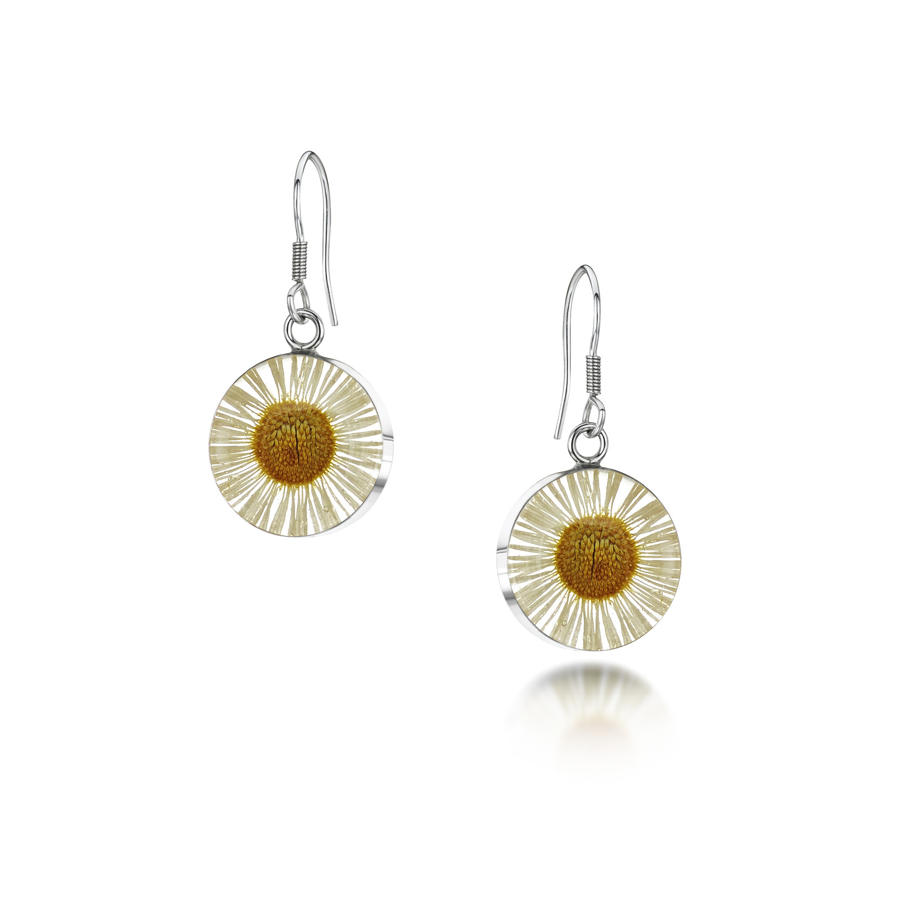 Daisy Round Drop Earrings