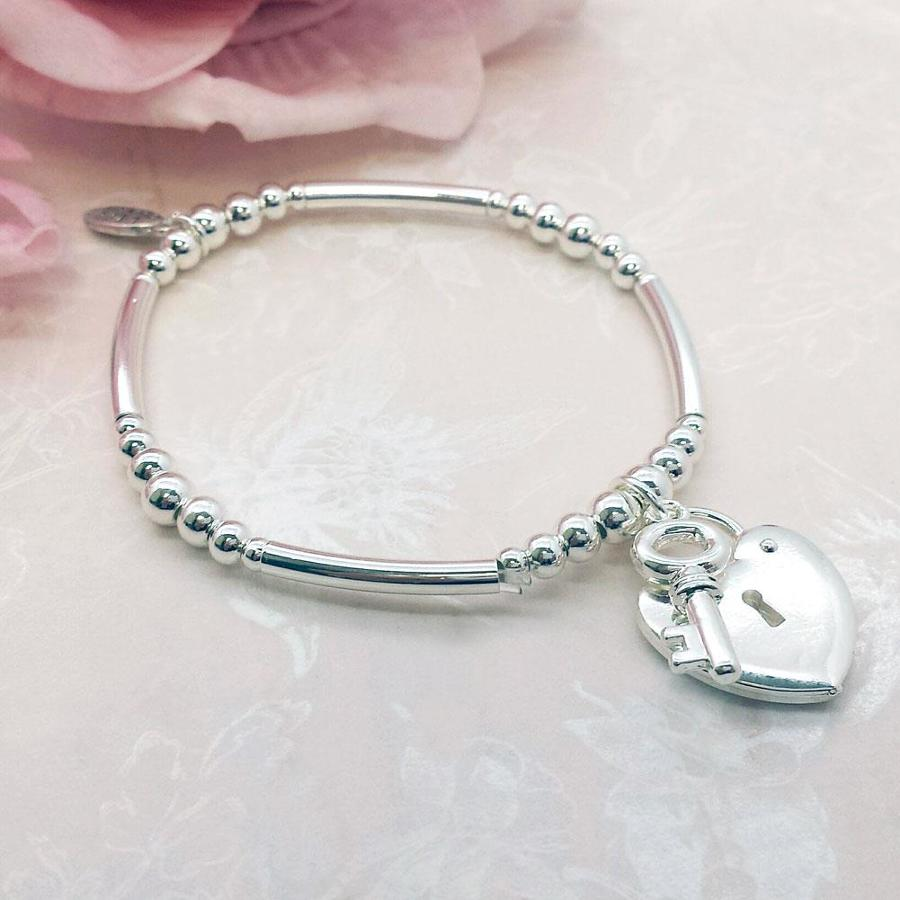 Key To My Heart Charm Stacking Bracelet