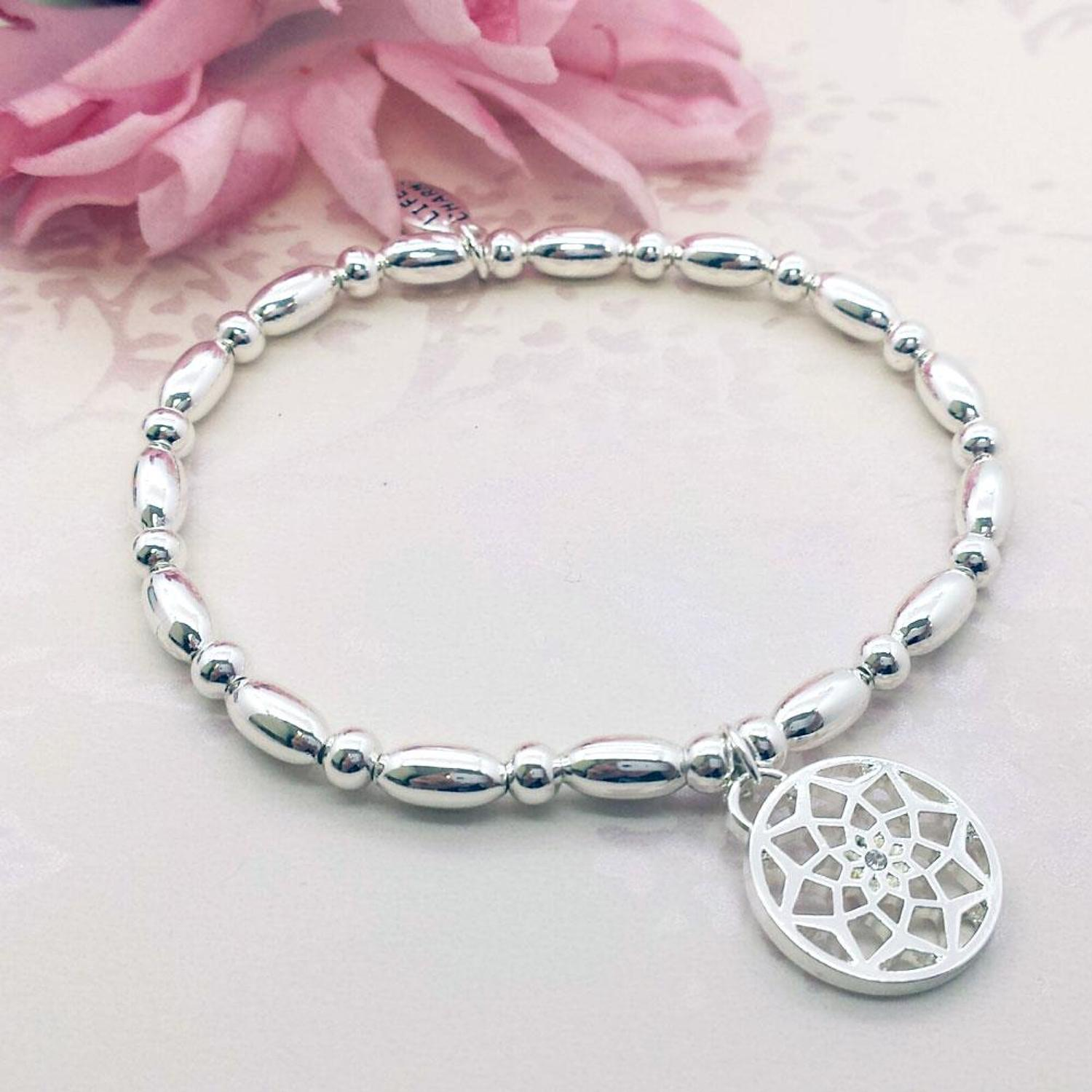 Dream Catcher Charm Stacking Bracelet