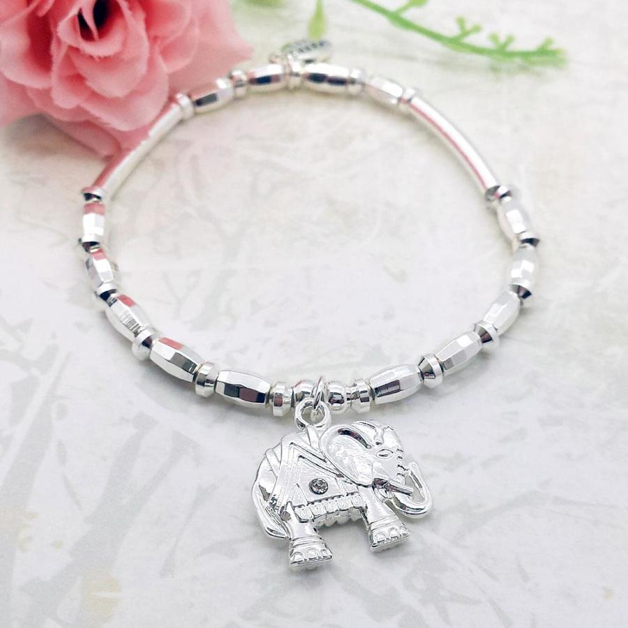 Lucky Elephant Charm Stacking Bracelet