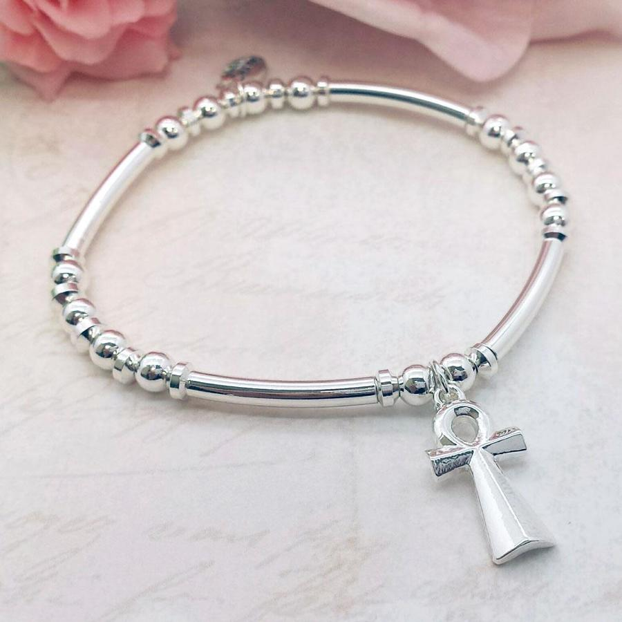 ANKH Cross Charm Stacking Bracelet