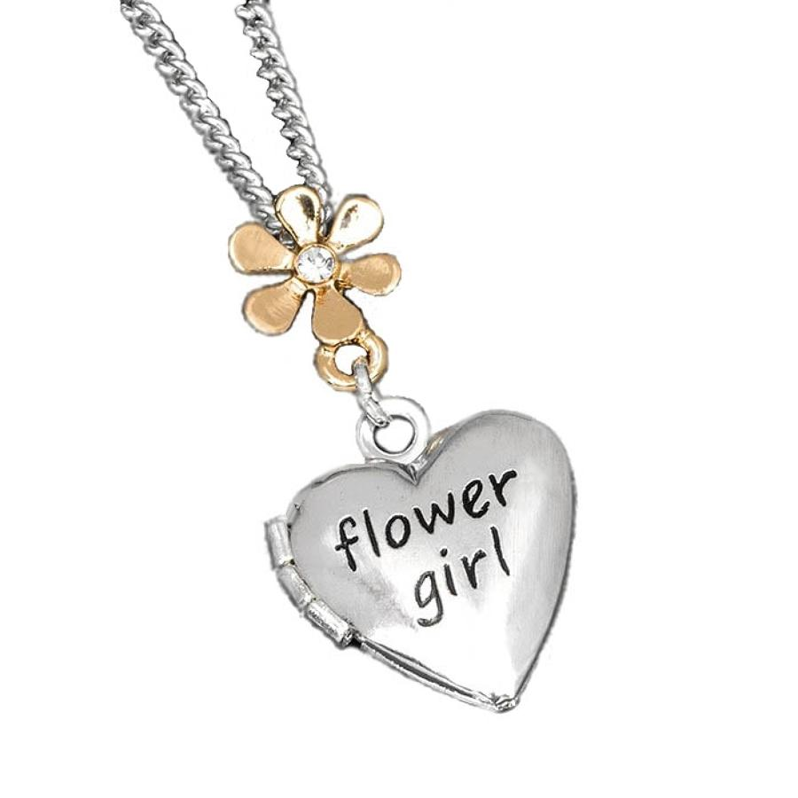 Flower Girl Locket Necklace