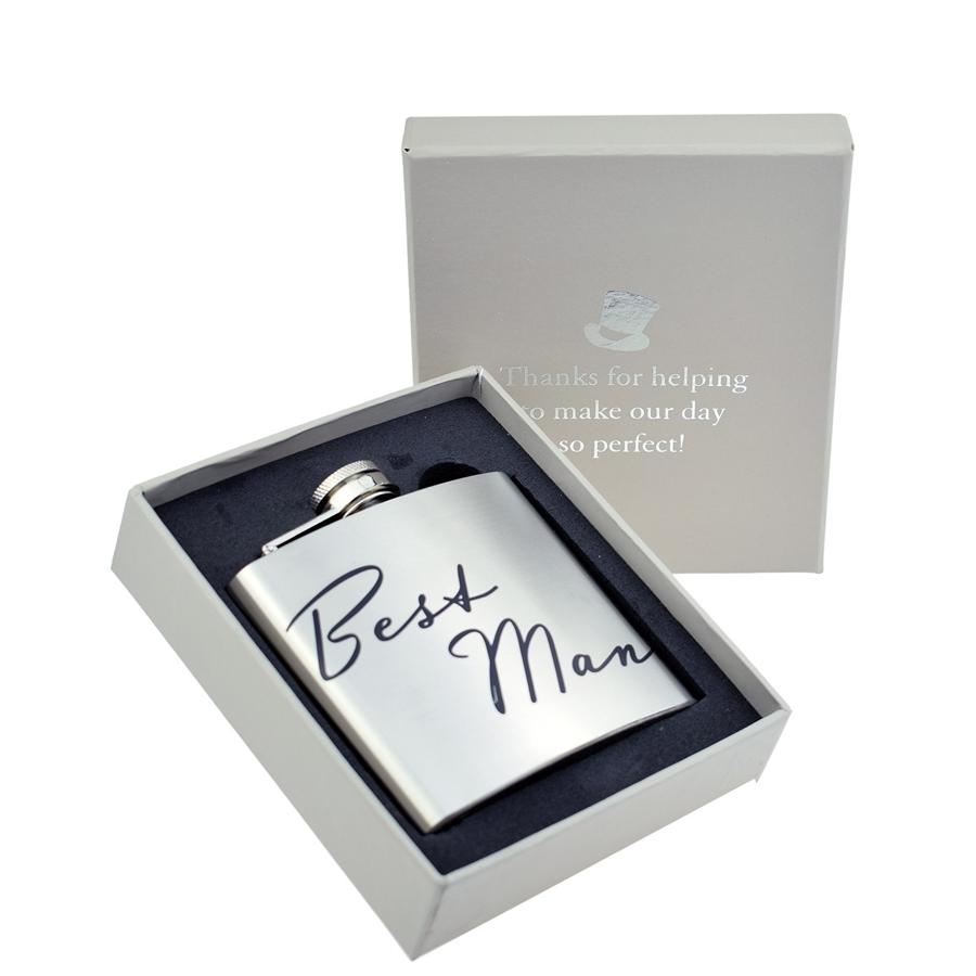 Best Man 5oz Hip Flask
