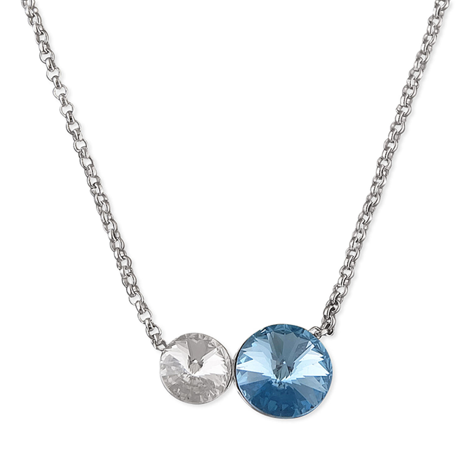 Sterling Silver  Blue Crystal Pendant